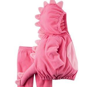 Carter's pink dinosaur costume 12month